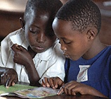 children learning in Kenya